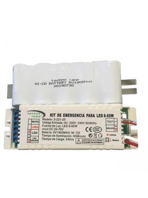 KIT EMERGENCIA PARA LED 60W 20-70V